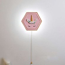 Cartoon Kids Bedroom Bedside Wall Lamp with Switch