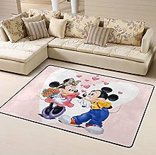 Cartoon Mickey Minnie Love Area Rug Floor Rugs