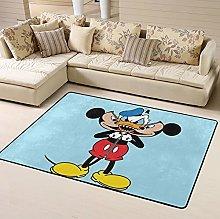Cartoon Mickey Mouse Yoda Area Rug Floor Rugs