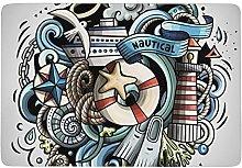 Cartoon Nautical,Area Rugs Washable floor mat