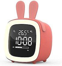 Cartoon Night Light Desk Digital Alarm Clock