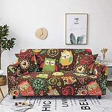 Cartoon Owl Bear Pattern Sofa Cover Elastic