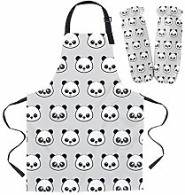 Cartoon Panda Apron Oversleeve Oven Gloves Pads