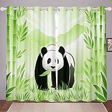 Cartoon Panda Curtain for Bedroom Child Cute