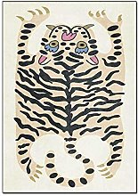 Cartoon Pink Black Animal Tiger Skin Printed Foam
