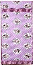 Cartoon Pink Flower Pattern Curtains Door