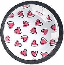 Cartoon Pink Little Love Crystal Drawer Handles
