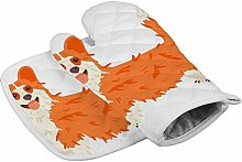 Cartoon Puppy Corgi Dog Brown Heat Resistant Oven
