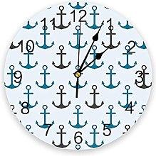Cartoon PVC Wall Clock, Silent Non-Ticking Round