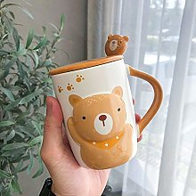 Cartoon Relief Ceramic Cup Cute Creative Animal