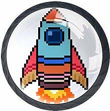 Cartoon Rocket Crystal Drawer Handles Furniture