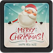 Cartoon Santa Claus with Signboard Square Cabinet