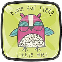 Cartoon Sleeping Owl Kitchen Cabinet Knobs Drawer