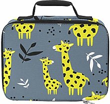 Cartoon Yellow Giraffe Family Insulated Grocery