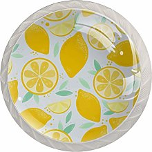 Cartoon Yellow Lemon 4 Pieces Crystal Glass