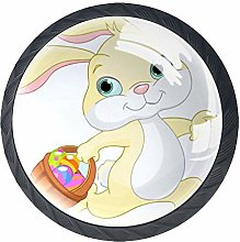 Cartoon Yellow Rabbit Drawer Knobs Pack of 4