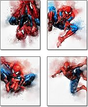 Cartoons Superhero Spiderman Theme Art Painting