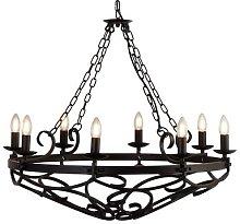 Cartwheel chandelier, 8-bulb, Ø 80 cm