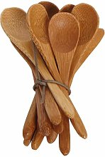 Carved Bamboo Teaspoon Set Of 6