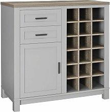 Carver Bar Drinks Cabinet Sideboard Grey / Sonoma