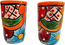 Casa Fiesta Designs Colorful Mexican Shot Glasses,