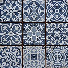 Casa Moro | 1 Pattern Tile Blue 33 x 33 cm for