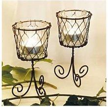 Casa Verde - Wire Votive Basket - Short - brown -