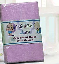 Casabella Pack Of 2 Jersey Fitted Sheet Fits Baby
