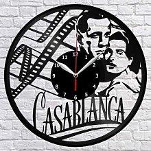 Casablanca Vinyl Record Wall Clock Fan Art Home