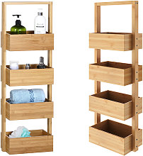 Casaria Bathroom Freestanding Bamboo 4 Tier