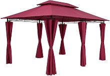 Casaria - Gazebo Pavilion Garden Topas 3x4m Red