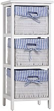 Casaria - Storage Unit Basket Chest of Drawers
