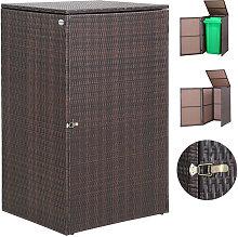 Casaria - Wheelie Bin Storage Box Polyrattan