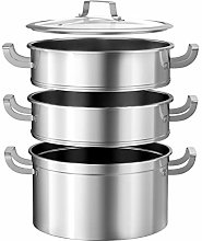 CASART 3 Tier Stainless Steel Steamer Set, Large