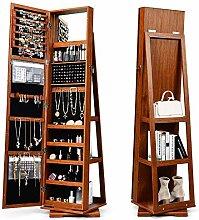 CASART 360° Swivel Jewellery Cabinet, 3 in 1