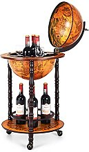 CASART 360MM Globe Drinks Cabinet with Casters,