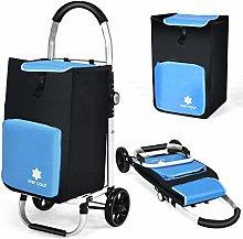 CASART Folding Shopping Trolley, Foldable Wheeled