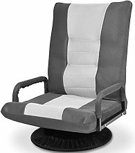 CASART Folding Sofa Chair, 360 Degree Swivel