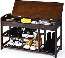 CASART Shoe Bench, 3-Tier Shoe Storage Rack with
