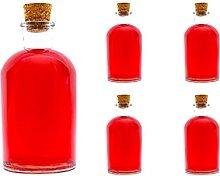 casavetro Clear Cork Stopper Empty Glass Bottles 1