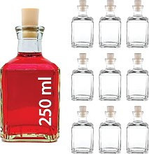 Casavetro Clear Cork Stopper Empty Glass Bottles