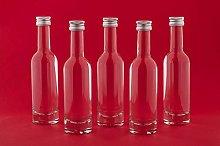 casavetro Clear Screw Top Empty Glass Bottles 50,
