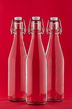 casavetro Clear Swing Top Empty Glass Bottles 1