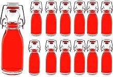 casavetro Clear Swing Top Empty Glass Bottles 100