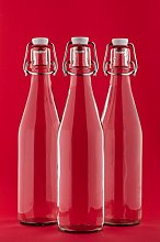 casavetro Clear Swing Top Empty Glass Bottles 250
