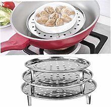 Casecover 1pc Round Steamer Rack Dumpling Tray for