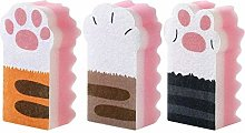 Casecover 3pcs Cleaning Brush Sponge, Cat Claw