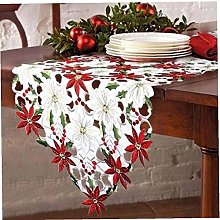 Casecover Embroidered Christmas Table Runner