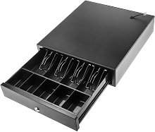 Cash drawer automatic black with RJ11 for POS