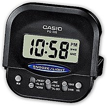 Casio Digital Alarm Clock Wake Up Timer Black, One